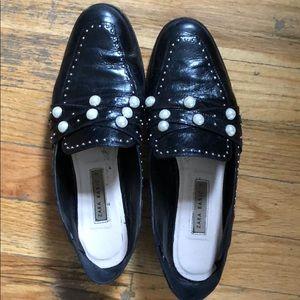 Zara pearl loafers